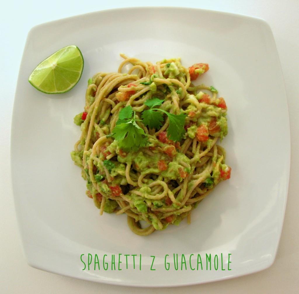 spaghetti z guacamole