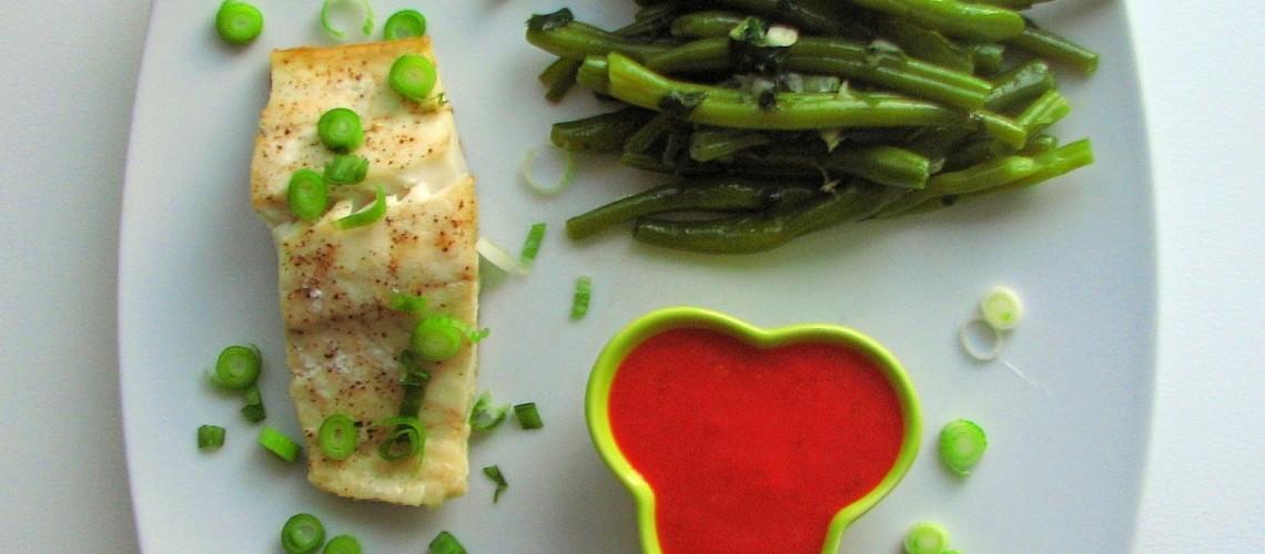 ryba z sosem truskawkowym nowy