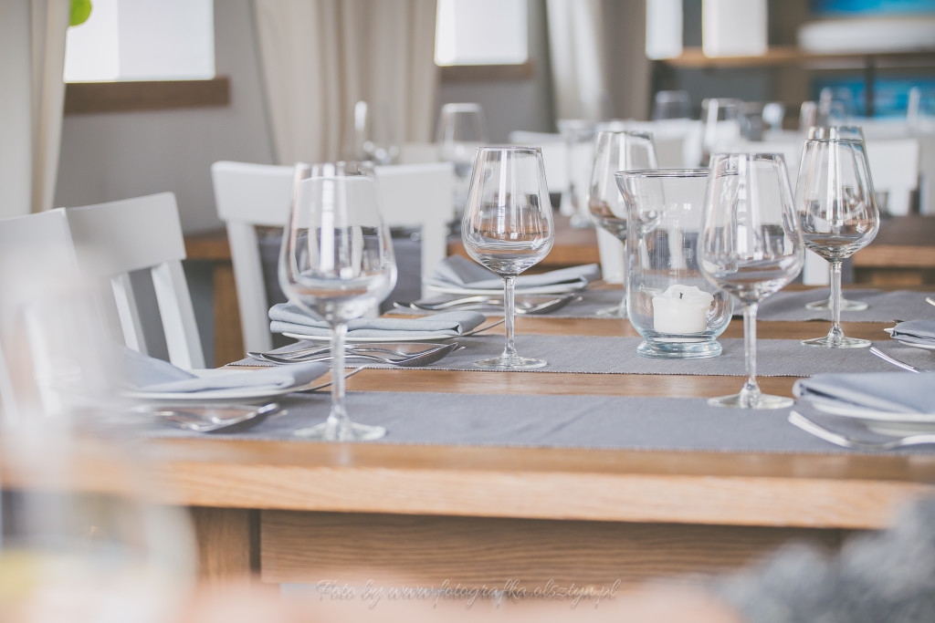 Widok na stół w Restauracji Lago